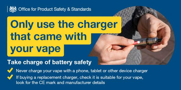 Take charge of battery safety