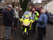 The Northumbria Blood Bikes visiting the Men's Group