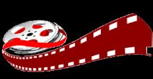 cartoon image of a film reel