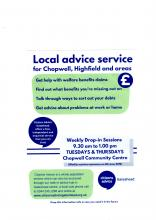 Poster about the advice service
