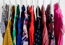 clothes hanging on a rail