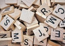 Scrabble blocks