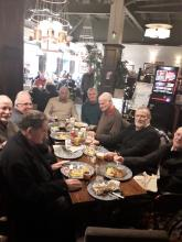 photo of the mens groups having lunch